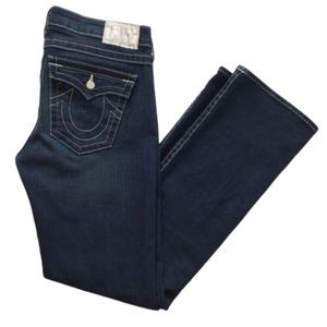 True Religion Billy Pave Button Straight Jeans 32